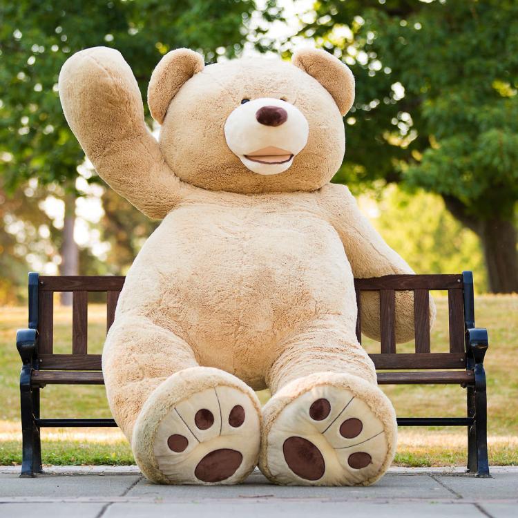 Giant Teddy Bear - Huge 8 Foot Tall Teddy Bear - 93 Inch Stuffed Bear