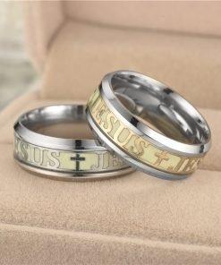 Glowing Jesus Christ Ring