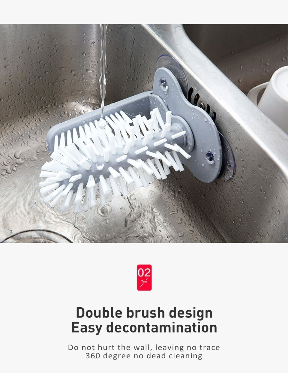 Glass, Cup & Bottle Cleaning Brush Scrubber