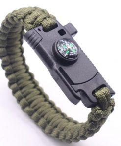 Outdoor Survival Bracelet | Compass | Whistle | Knife