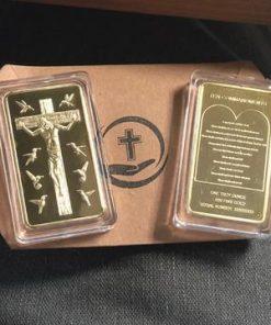 Rare Ten Commandments Jesus Gold Bar
