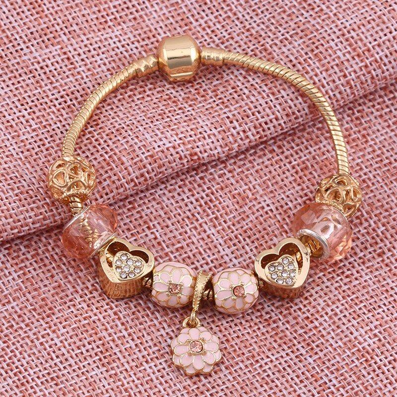 Rose Gold Charm Bracelet Pandora Bracelet Rose Gold