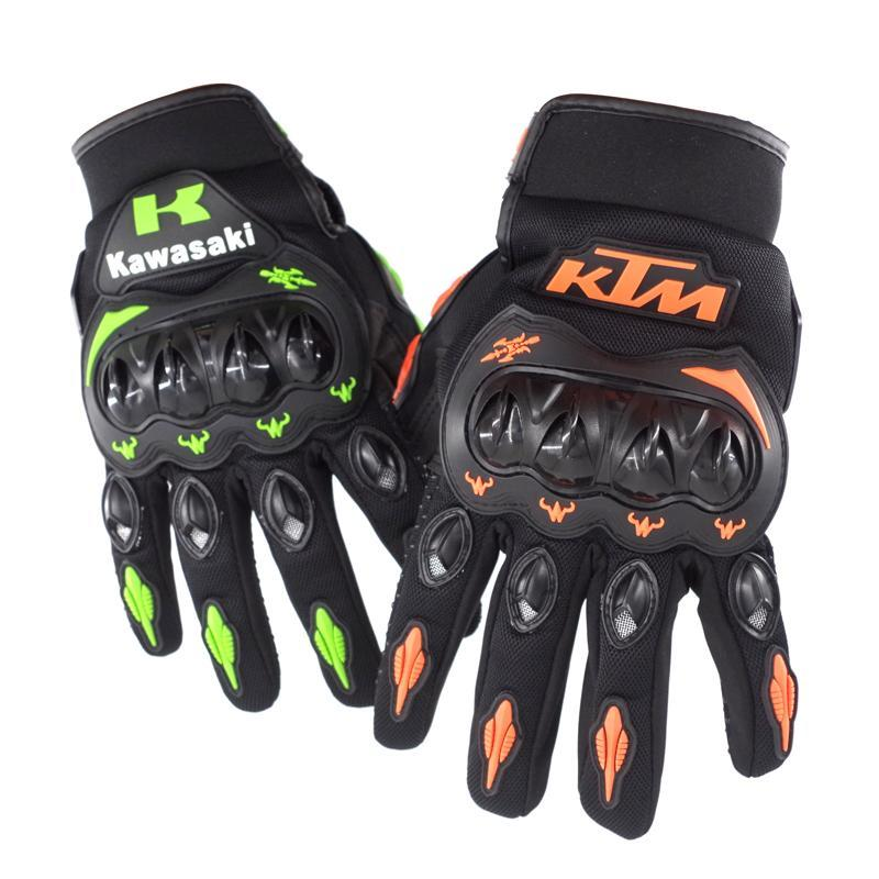 Motorcycle Leather Yellow Motorbike Winter Sport Racing Gloves  XL