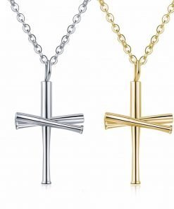 2018 Baseball Bat Cross Necklace