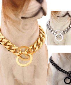 Big Hip Hop Chains Dog Collar 15mm