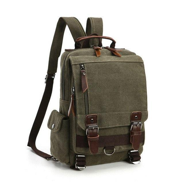 Vintage Canvas Messenger Sling Bag