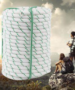 "Heavy Duty Tree Climbing Rope - Double Braid - 1/2"" - 125 ft - 8400 lb Break Strength"