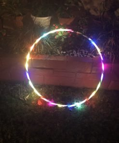 "35''to 24"" 24 to 10-LED Lights Glow in Dark Hula Hoop"