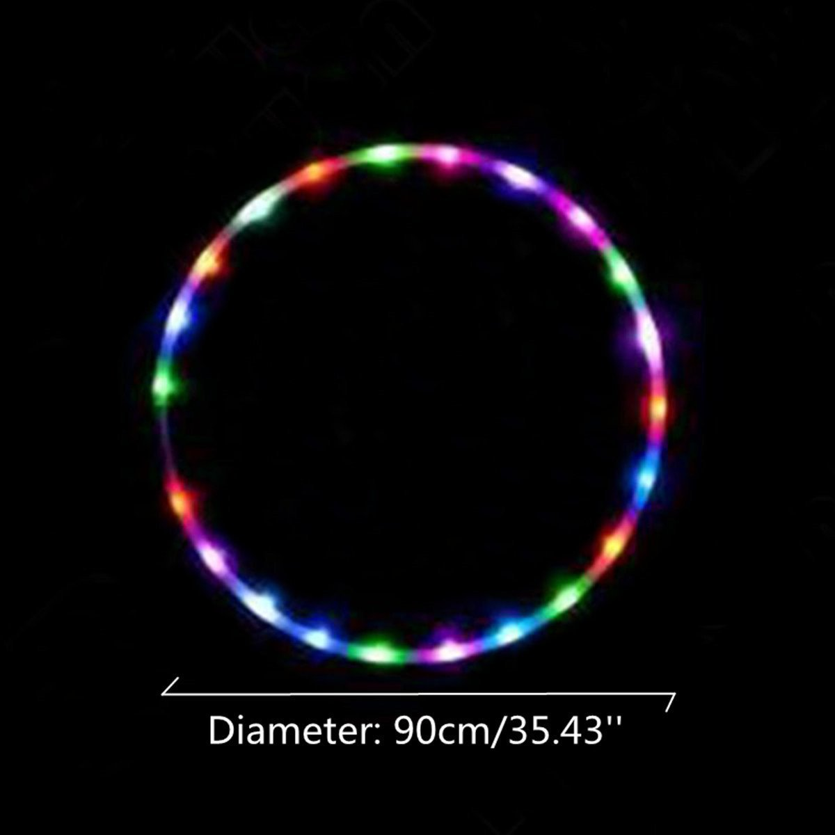 "35''to 24"" 24 to 10-LED Lights Glow in Dark Hula Hoop"