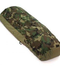 US Military Modular Sleep System Bivy Cover, Woodland Camo, Used