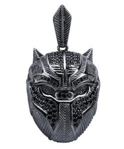 Black Panther Iced Out Pendant Necklace