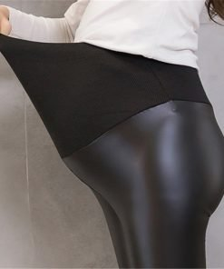 Maternity Leather Leggings