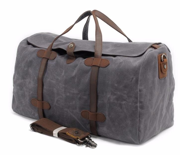Mens Duffle Bag Travel Waterproof Waxed